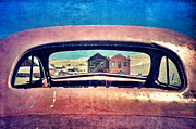 Rear Window Prints - Bodie Through Car Window Print by Jill Battaglia