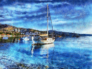 Bodrum Bay In Turkey Print by Lilia D