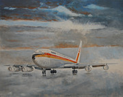 Boeing Paintings - Boeing 707 by Art Cox