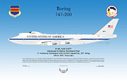 Boeing 747 200 E4b Print by Arthur Eggers