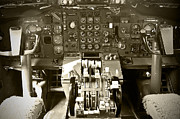 Boeing 747 Cockpit  Print by Micah May