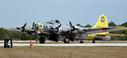 Bomber Escort Photo Framed Prints - Boeing B-17 Chuckie  Framed Print by Matt Abrams