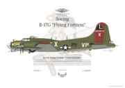 Aircraft Artist Framed Prints - Boeing B17G Flying Fortress Framed Print by Arthur Eggers
