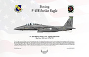 Fighter-bomber Framed Prints - Boeing F-15E Strike Eagle Framed Print by Arthur Eggers