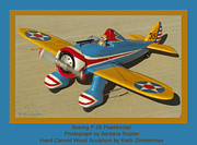 Army Air Corps Posters - Boeing P26 Peashooter Poster by Barbara Snyder and Keith Zimmerman