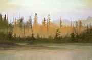 Haze Pastels Metal Prints - Bog out Back Metal Print by Bruce Richardson