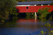 Raymond Salani Iii Posters - Bogerts Covered Bridge Poster by Raymond Salani III