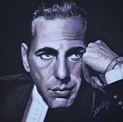 Movies Painting Originals - Bogie by Shirl Theis