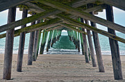 Bogue Banks Fishing Pier Print by Sandi OReilly