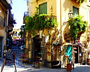 Window Signs Art - Bohemian Corner in Taormina by Carla Parris