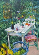 Cage Paintings - Bohemian Garden by Susan Jenkins