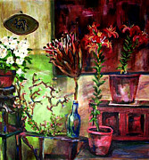 Interior Still Life Painting Metal Prints - Bohemian Like Me Metal Print by Art by Kar