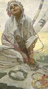 Bohemian Sun Dreamer Print by Alphonse Marie Mucha