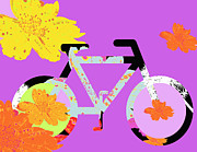 Children Licensing Metal Prints - Boho Love Bike Metal Print by Anahi DeCanio