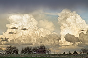 Boiling Thunderstorm Clouds And The Little House On The Prairie Print by James BO  Insogna