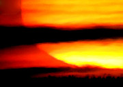 Canvasprint Prints - Boiling warm Sunset Print by Colette V Hera  Guggenheim