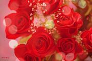 Bokeh Roses Print by Cheryl Young