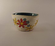 Red Flowers Ceramics - Bold Bowl by Penny Pierson Burke