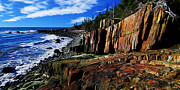 Quoddy Photography Posters - Bold Coast 32 Enhanced Poster by ABeautifulSky  Photography