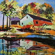 Colors Of Autumn Painting Prints - Bold Colors of Autumn  Print by John  Williams