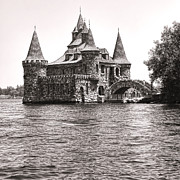 Region Posters - Boldt Castle Power House Poster by Olivier Le Queinec