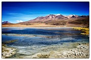 Bolivia Blog Prints - Bolivia Desert Lake Framed Print by For Ninety One Days