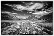 Bolivia Guide Prints - Bolivia Train Tracks Black And White Print by For Ninety One Days