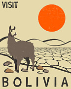 Bolivian Framed Prints - Bolivia Travel Poster Framed Print by Jazzberry Blue