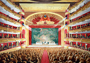 Moscow Paintings - Bolshoi Ballet by Lora Serra