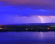 Lightning Prints - Bolt Over Gatineau Hills  Print by Tony Beck