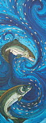 Salmon Paintings - Bolt by Tammie Hunter