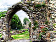 Gateway Digital Art - Bolton Abbey Gateway by Amanda Moore