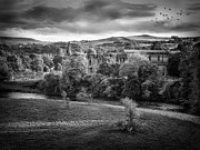 White Wall Prints - Bolton Abbey Print by Ian Barber