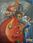 Jazz Painting Originals - Bomb It by Joel Gwidt