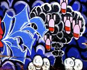 Graffiti Wall Art Posters - Bombs Poster by Derek Selander