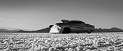 Dry Lake Photo Metal Prints - Bombshell Buick - Metal and Speed Metal Print by Holly Martin