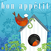Framed Digital Art Mixed Media - Bon Appetit by Valerie  Drake Lesiak