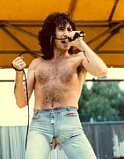 Bon Scott Framed Prints - Bon Scott of AC DC at Day On The Green-Low Sale Price On Limited Sizes Framed Print by Daniel Larsen
