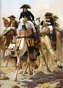 French Leaders Posters - Bonaparte in Egypt Poster by Jean-Leon Gerome