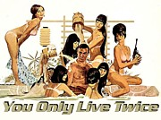 Vintage Posters Art - Bond You Only Live Twice by Sanely Great