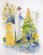Florida House Paintings - Bonnet House Garden Gate by Pat Katz