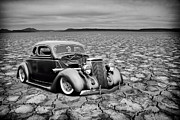 White Walls Framed Prints - Bonneville Coupe Framed Print by Steve McKinzie