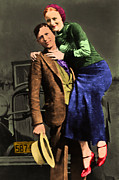 Handgun Posters - Bonnie and Clyde 20130515 Poster by Wingsdomain Art and Photography
