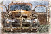 Ford Sedan Framed Prints - Bonnie And Clyde Framed Print by Debra and Dave Vanderlaan