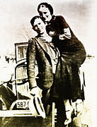 Twenties Posters - Bonnie and Clyde Poster by Digital Reproductions