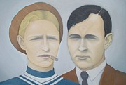 Cop Paintings - Bonnie and Clyde by Mark Barnett