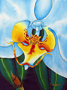 Stretched Canvas Tapestries - Textiles Framed Prints - Bonnie Orchid I Framed Print by Daniel Jean-Baptiste