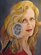 Slide Painting Prints - Bonnie Raitt And Howlin Wolf Print by Jeepee Aero