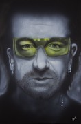 U2 Painting Metal Prints - Bono Metal Print by Bas Hollander