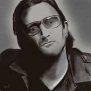 Bono Digital Art - Bono by David Boland